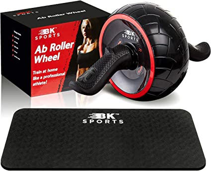 Ab Roller Wheel Home Gym Equipment Abdominal Core Fitness Exercisers Kneel Pad