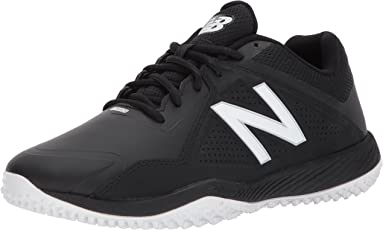 New Balance Men's T4040V3 Turf Baseball Shoe, Black/Red, 50 EU