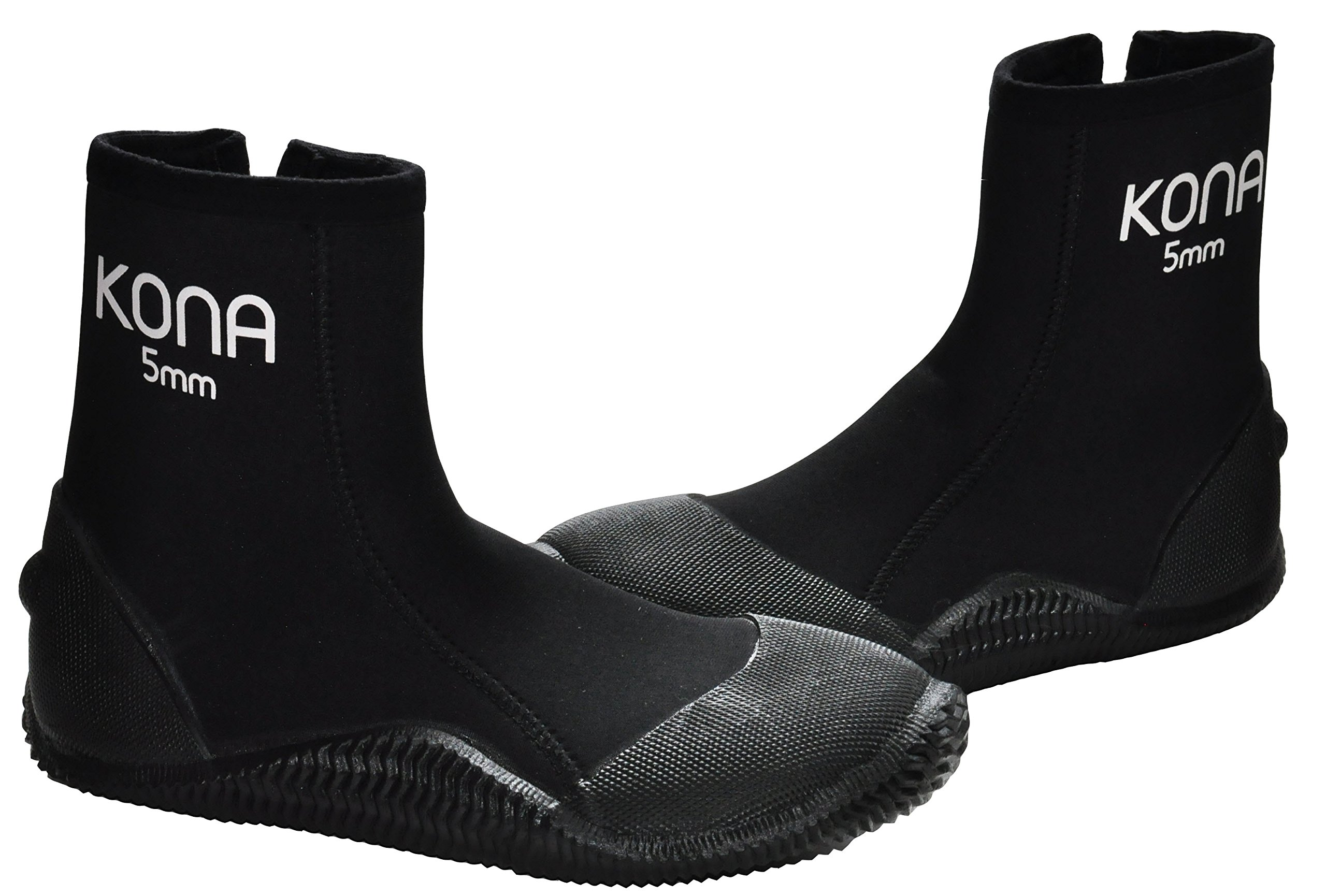 Kona 5mm Premium Double-Lined Neoprene Scuba Diving Boots with Vulcanized Grip Technology (Mens 9 / Womens 10)