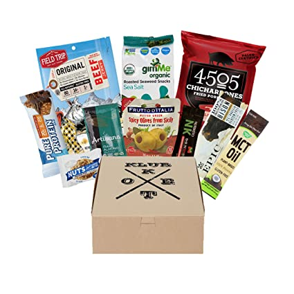 Keto Klub Pantry Box with Almond Meal, Caocao Powder, Monkfruit Sweetener, Coconut Oil and more for cooking essentials Pantry