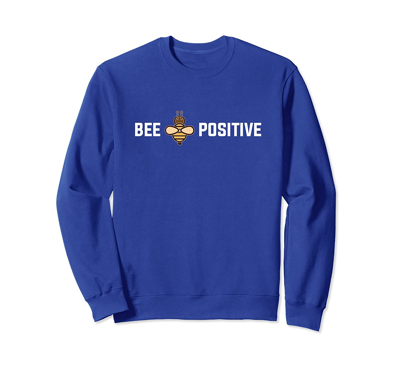 Happiness Sweatshirt-Bee Positive Pun Bumble Pullover-AZP