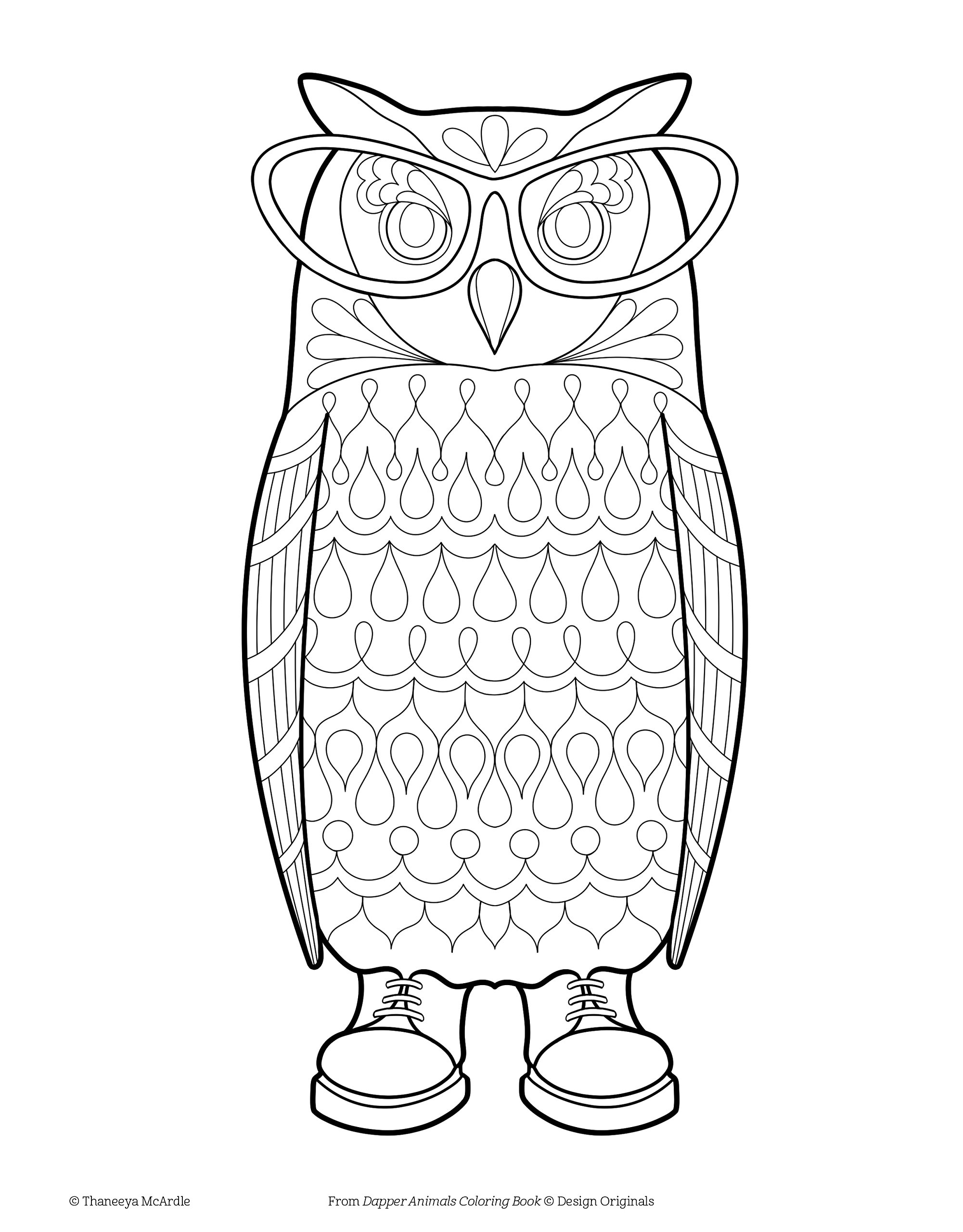 Amazon Dapper Animals Coloring Book Is Fun Design