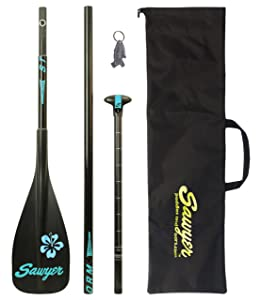 Sawyer Storm Traveler 3-Piece Adjustable Stand-Up Paddle and Fiberglass Shaft with 100 Square Inch CFRT Blade