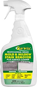 Star brite Mold & Mildew Stain Remover Plus Surface Cleaner with Bleach - 32 OZ Spray
