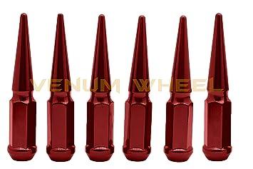 20 Pc 9//16 Dodge Solid Black Spike Lug Nuts For Aftermarket Wheels w// Socket Key