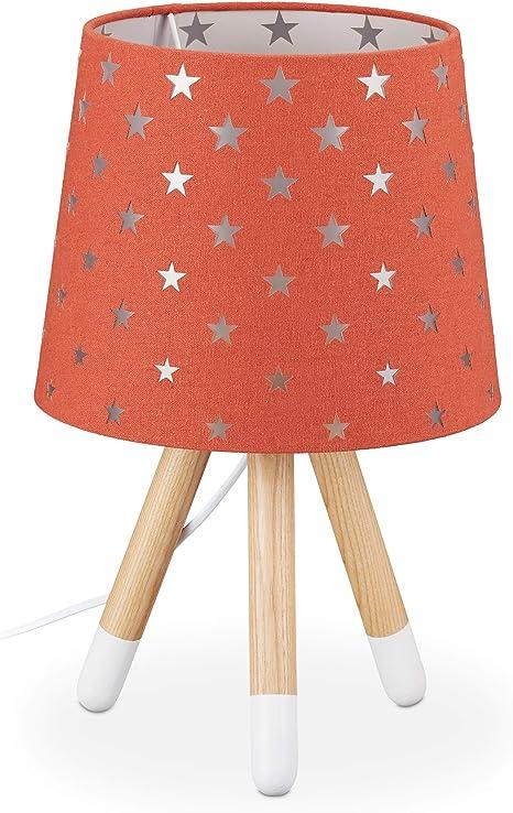 Relaxdays Lampada Da Tavolo Per Bambini Luce Comodino Per Cameretta E14 Scrivania Design Stelline 39x25 Cm Rossa Rosso Amazon It Illuminazione