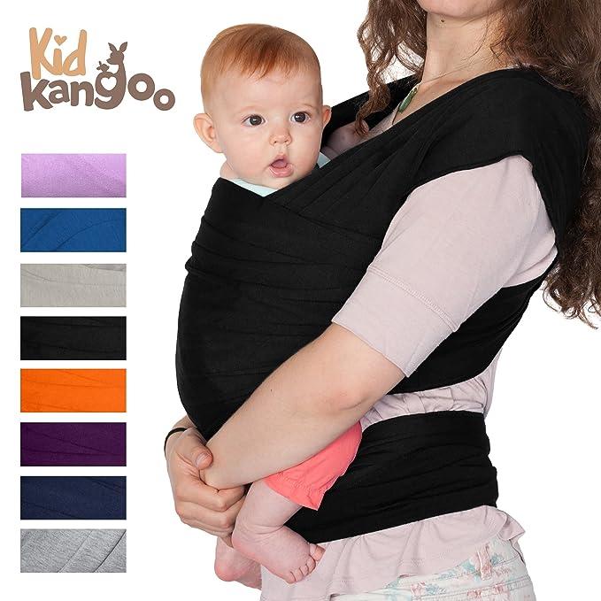 Écharpe de portage pour porter votre bébé - Porte bébé en coton et lycra - Porte  bébé pour hommes et femmes disponible en cinq couleurs (NOIR)  Amazon.fr   ... e3953ad7695