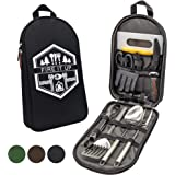 13 PC Grilling and Camping Cooking Utensils Set for The Outdoors BBQ - Stainless Steel Camp Kitchen Set Cookware Grill…