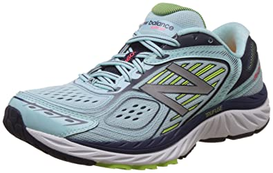 New Balance Womens 860v7 Running Sneaker Shoes, White/Blue, US 5
