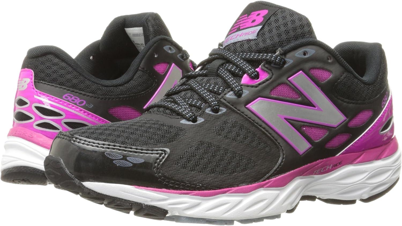 New Balance W680 LB3 - Zapatillas de running para mujer, color negro / fucsia, Negro / Fucsia, 35: Amazon.es: Zapatos y complementos