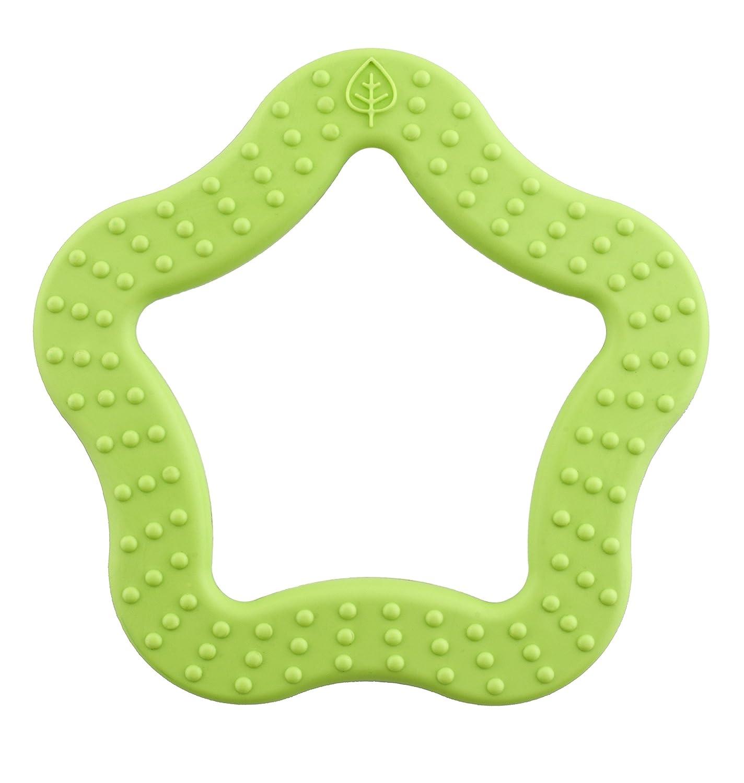 Green//Orange Bioserie Toys Star Teether