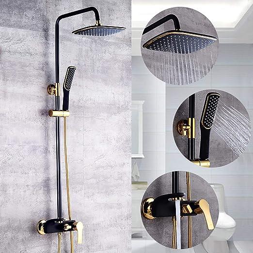 LLYY Set de Ducha Sistema baño Columna Duchas Ducha con Grifo Agua ...