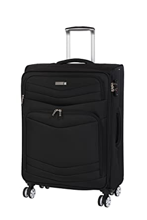 IT Luggage Intrepid 8 Wheel Lightweight Semi Expander Cabin Suitcase, 56 cm