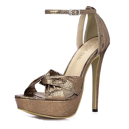 d62f466f CHMILE CHAU-Zapatos para Mujer-Sandalias de Tacon Alto de Aguja-Elegantes-