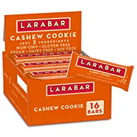 Deals on 16-Count LARABAR Fruit & Nut Bar Cashew Cookie 27.2 oz