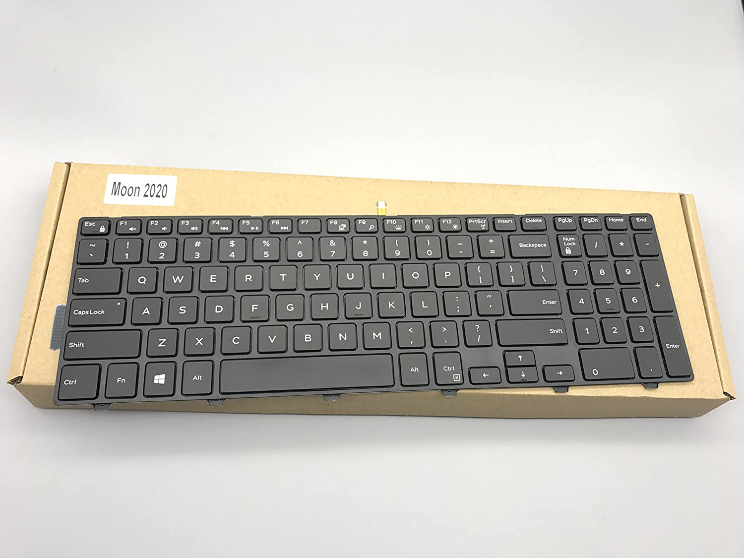 Replacement Keyboard for Dell Inspiron 15 3000 Series 3541 3542 3543 3552 3553 3558 3559 / Vostro 15 3000 Series 3546 3549 3555 3558 3559 New Version Laptop Backlight 0JYP58 OJYP58 G7P48 0G7P48 OG7P48