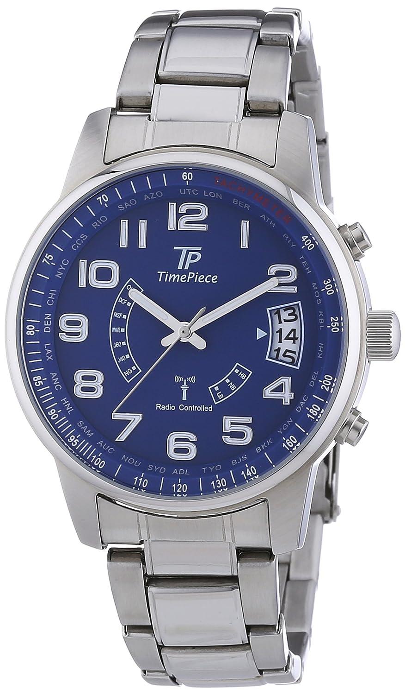Time Piece Herren-Armbanduhr XL Funk Analog Quarz Edelstahl TPGS-10291-12M