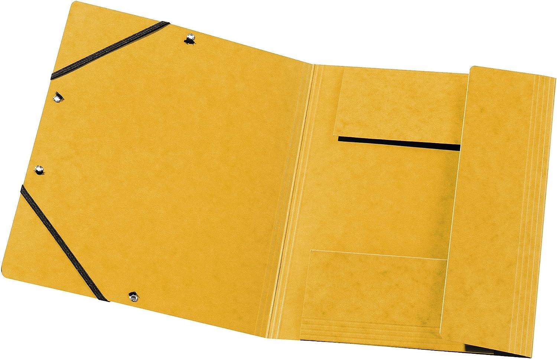 Aus extra starkem Colorspan-Karton mit 3 Innenklappen und 2 Gummiz/ügen DIN A4 violett Juris-Mappe Sammelmappe Made in Germany Original Falken 25er Pack Premium Einschlagmappe