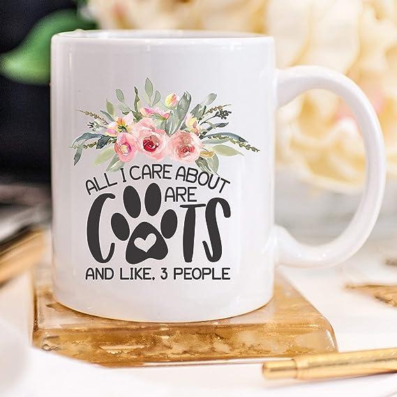 Taza de regalo para amantes de los gatos, regalo para su gato, taza de café, regalo para una dama loca, gato, mamá, rescate, amante de los gatos, taza de regalo para mujer: