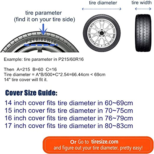JIAU HUA Life is Better On The Farm Tire Covers Waterproof Uv Sun Rv Trailer Tire Protectors Universal Spare Tire Wheel Cover Fits 14 15 16 17 Inch