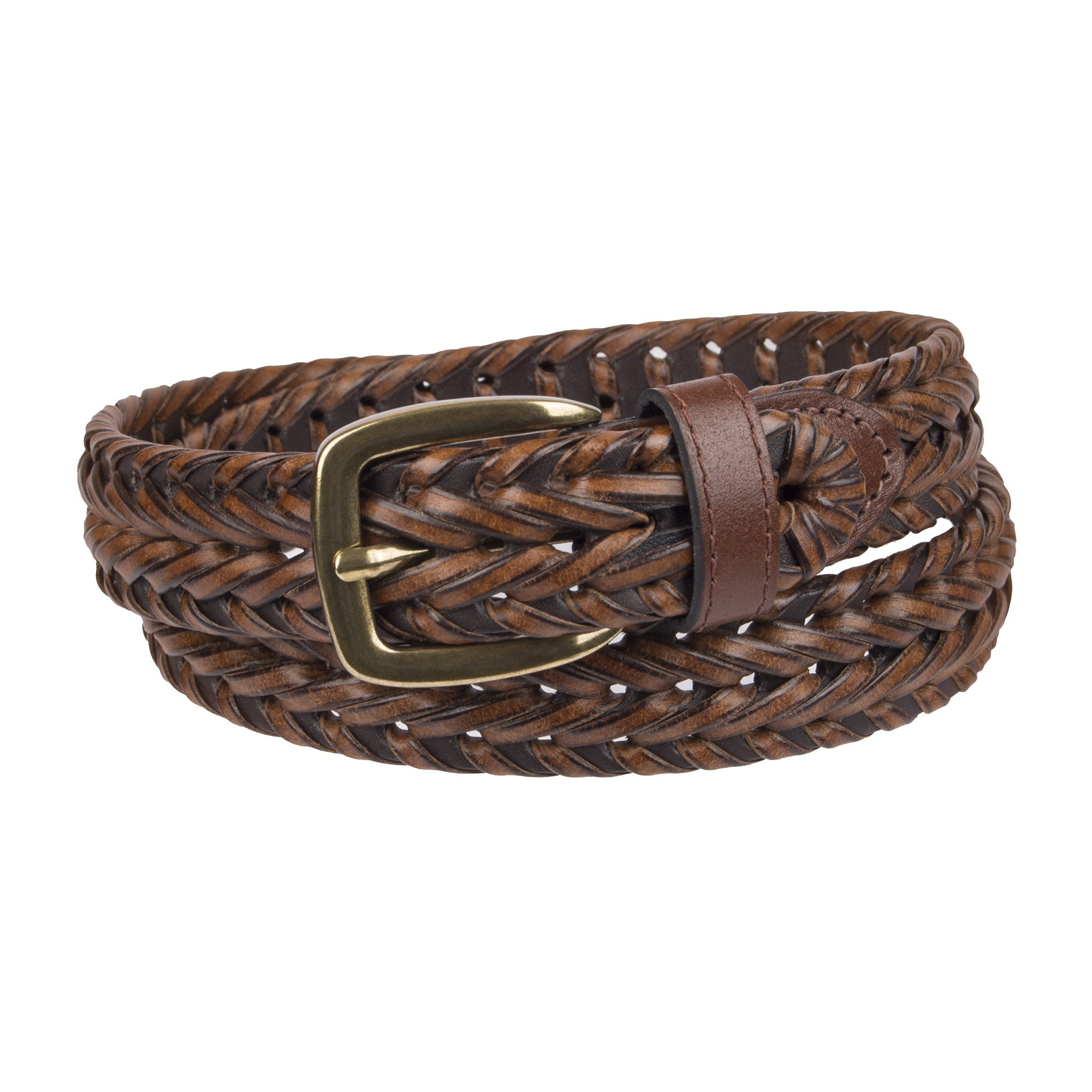 Chaps Big Boy's 1'' Casual Braid Belt brown, Small (22-24)
