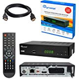 HB DIGITAL DVB-T/T2 SET: Skymaster T90 HEVC DVB-T/T2 Receiver + HDMI Kabel mit Ethernet Funktion und vergoldeten Anschlüssen (Full HD, HEVC/H.265, HDTV, HDMI, SCART, USB 2.0 DVBT DVBT2 DVB-T2)