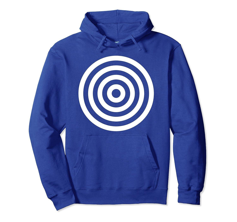 Bullseye Target Circles Halloween Costume Funny Hoodie-mt