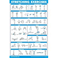 """QuickFit Stretching Workout Exercise Poster - Double Sided (Laminated, 18"""" x 27"""")"""