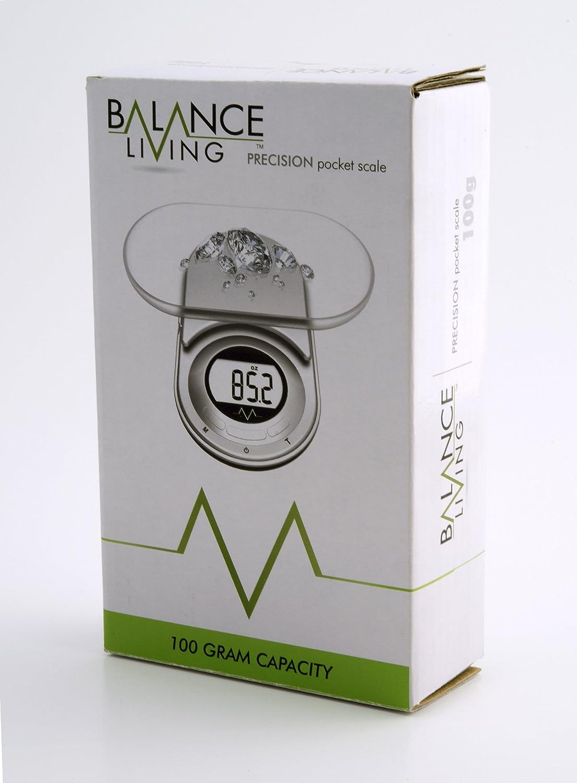 Balance Living Digit Pocket Scale Silver 100gm