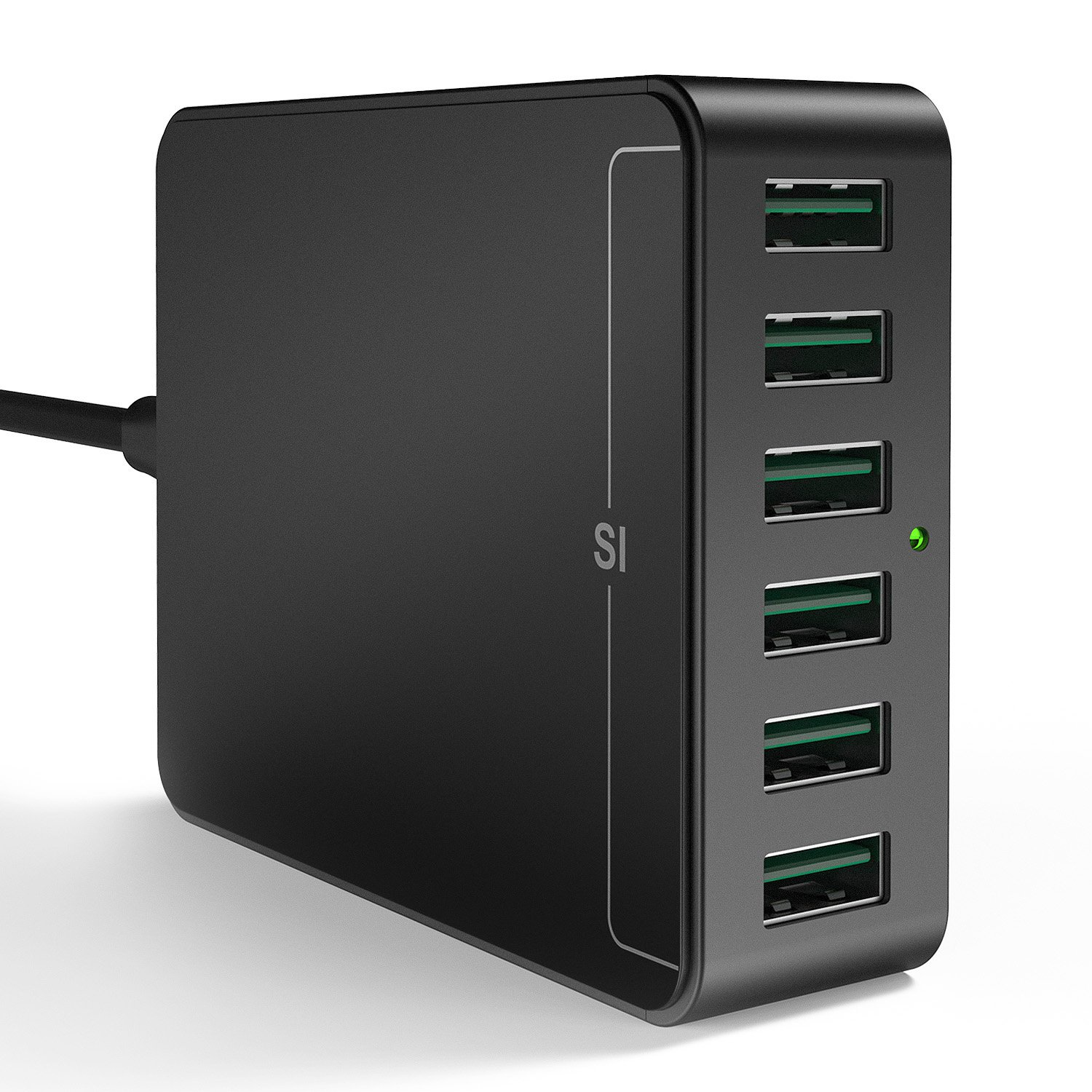 USB Charger 6-Port USB Charging Station, Vogek 60W 12A USB Wall Charger Station Multi Ports Desktop Charger with Smart Identification