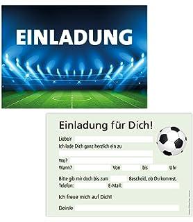 Breitenwerk 12 Er Karten Set Fussball Einladungen Zum