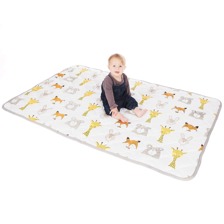 Lionhouse Non-Slip Padded Baby Play Mat 100 Cotton Surface Large 150 x 100 cm Machine-Washable
