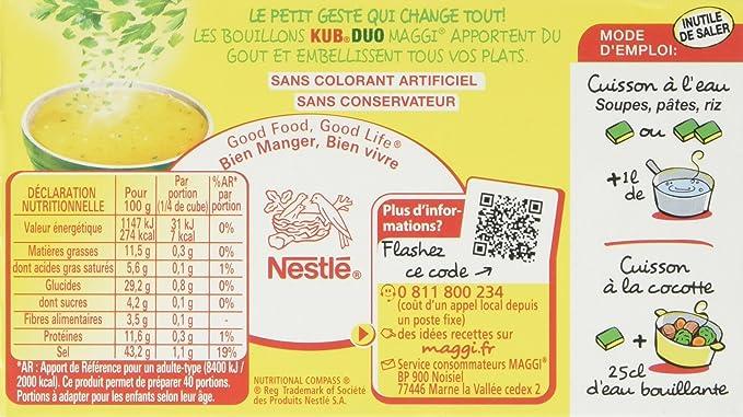 Maggi Bouillon Kub Duo Legumes Et Herbes Du Marche 10 Tablettes