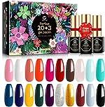 MEFA 23 Pcs Gel Nail Polish Set with Nice Box, Soak