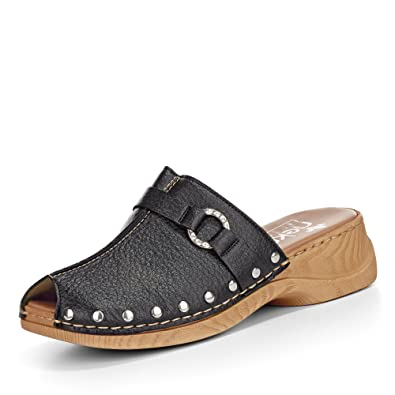 separation shoes 213fb 1dc68 Rieker Damen Clogs 65062-01 Schwarz
