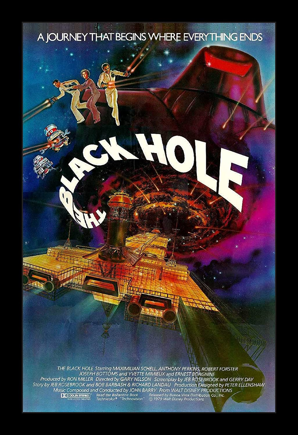Wallspace The Black Hole - 11x17 Framed Movie Poster