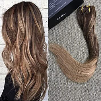 Amazon full shine 16 inch biscuit ombre blonde balayage full shine 16 inch biscuit ombre blonde balayage extensions clip in ombre hair extensions color pmusecretfo Images