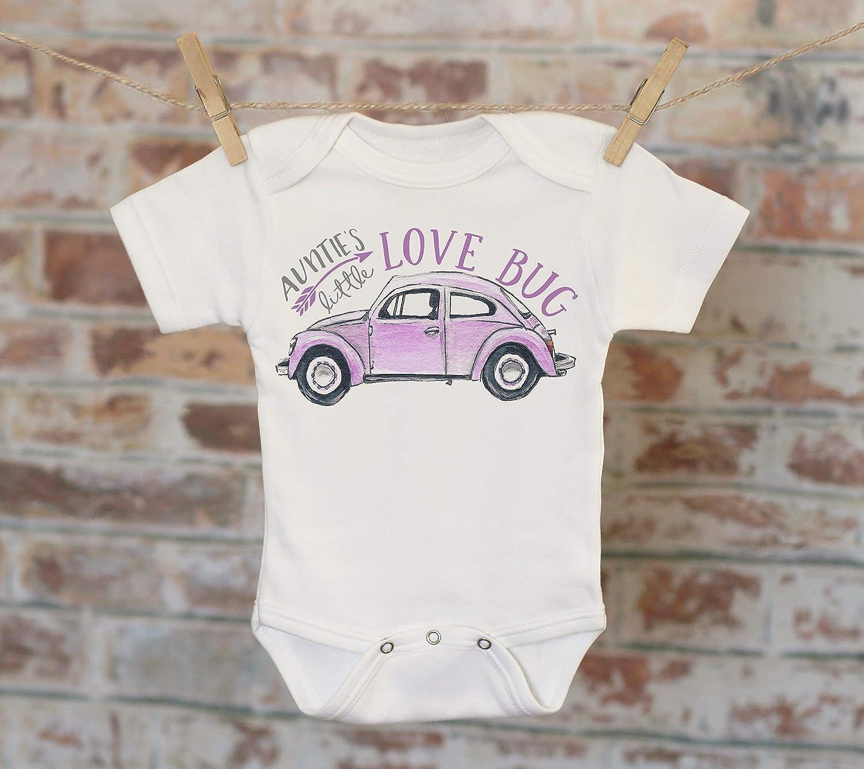 Auntie's Little Lovebug Onesie® in Purple, Funny Onesie, Cute Onesie, Aunt Onesie, Cute Baby Bodysuit, Boho Baby Onesie, Girl Onesie