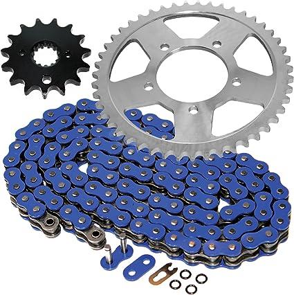 Caltric Golden O-Ring Drive Chain /& Sprockets Kit Compatible With Suzuki Gsx600F Gsx-600F Katana 600 1992-1999