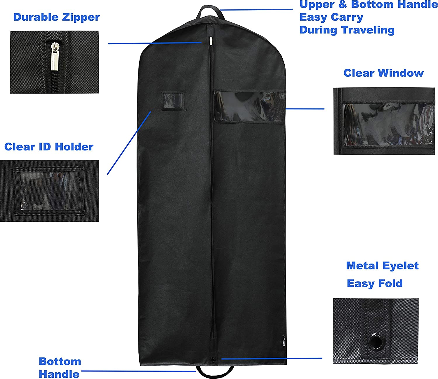 Dresses Simplehousware 60-Inch Heavy Duty Garment Bag for Suits Renewed Tuxedos Coats