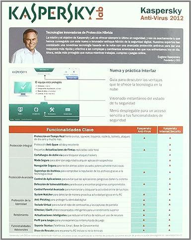 Kaspersky Antivirus 2012 3 licencias - renovación - 1 año