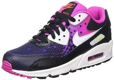 NIKE Air Max 90 Prem Mesh (GS), Chaussures de Running Entrainement Fille,