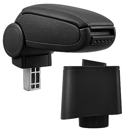Armrest Perfekt Fit imitation leather cover // black inkl Storage Box pro.tec Centre Console