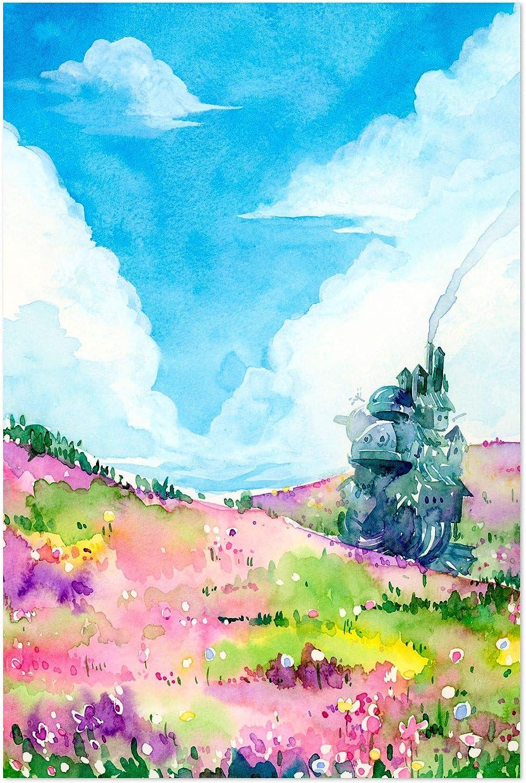 "Noir Gallery Howl's Moving Castle Movie Painting 5"" x 7"" Unframed Art Print/Poster"