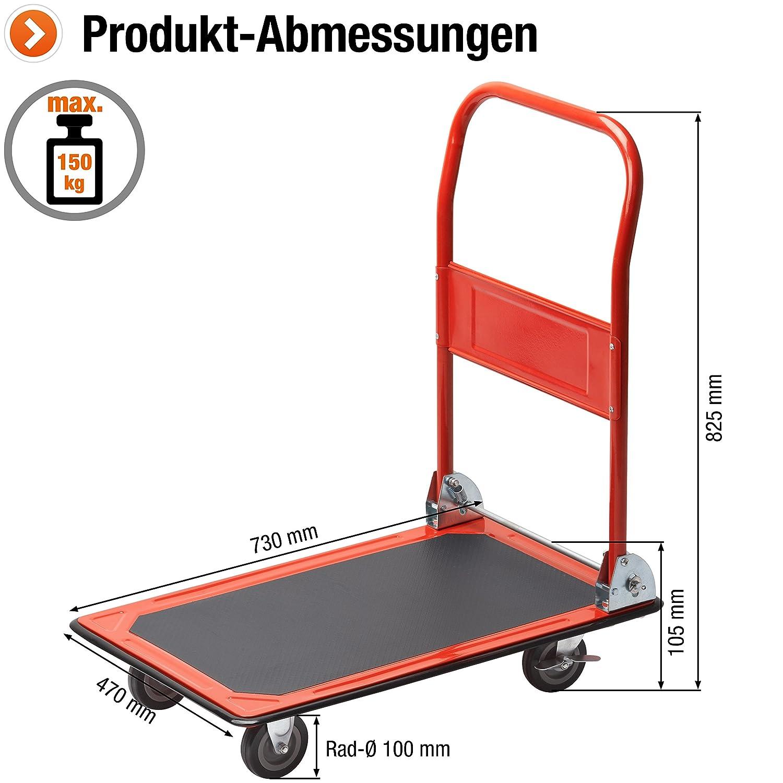 Meister 8985400 Chariot plateforme Pliable 150 kg