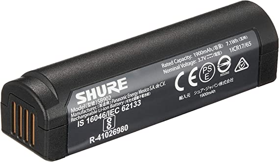 Shure SB902 Rechargeable Lithium-Ion Battery for GLX-D