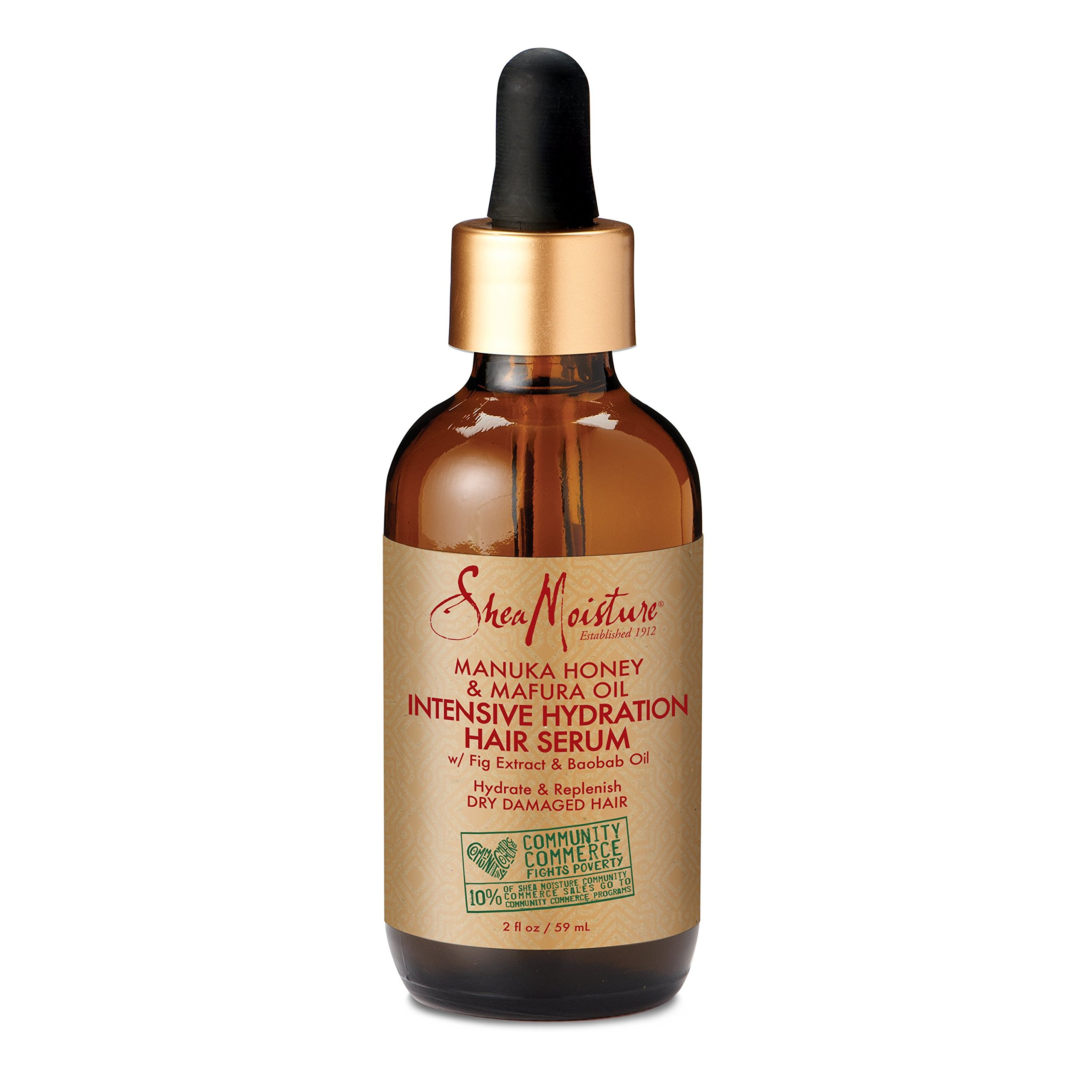 SheaMoisture Manuka Honey & Mafura Oil Intensive Hydration Complex for Dry Hair, 2 Oz
