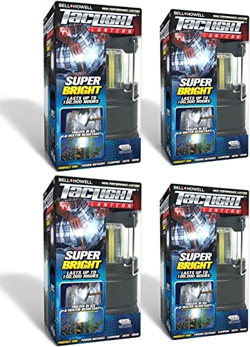 Bell Howell Taclight LED Lantern with Automatic On Off Function Pull up OR push down , Collapsible As Seen On TV Pack of 4