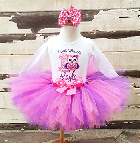 5aa666bd7 Image Unavailable. Image not available for. Color: Look Whoo's 1 Owl  Birthday Tutu Outfit- ...
