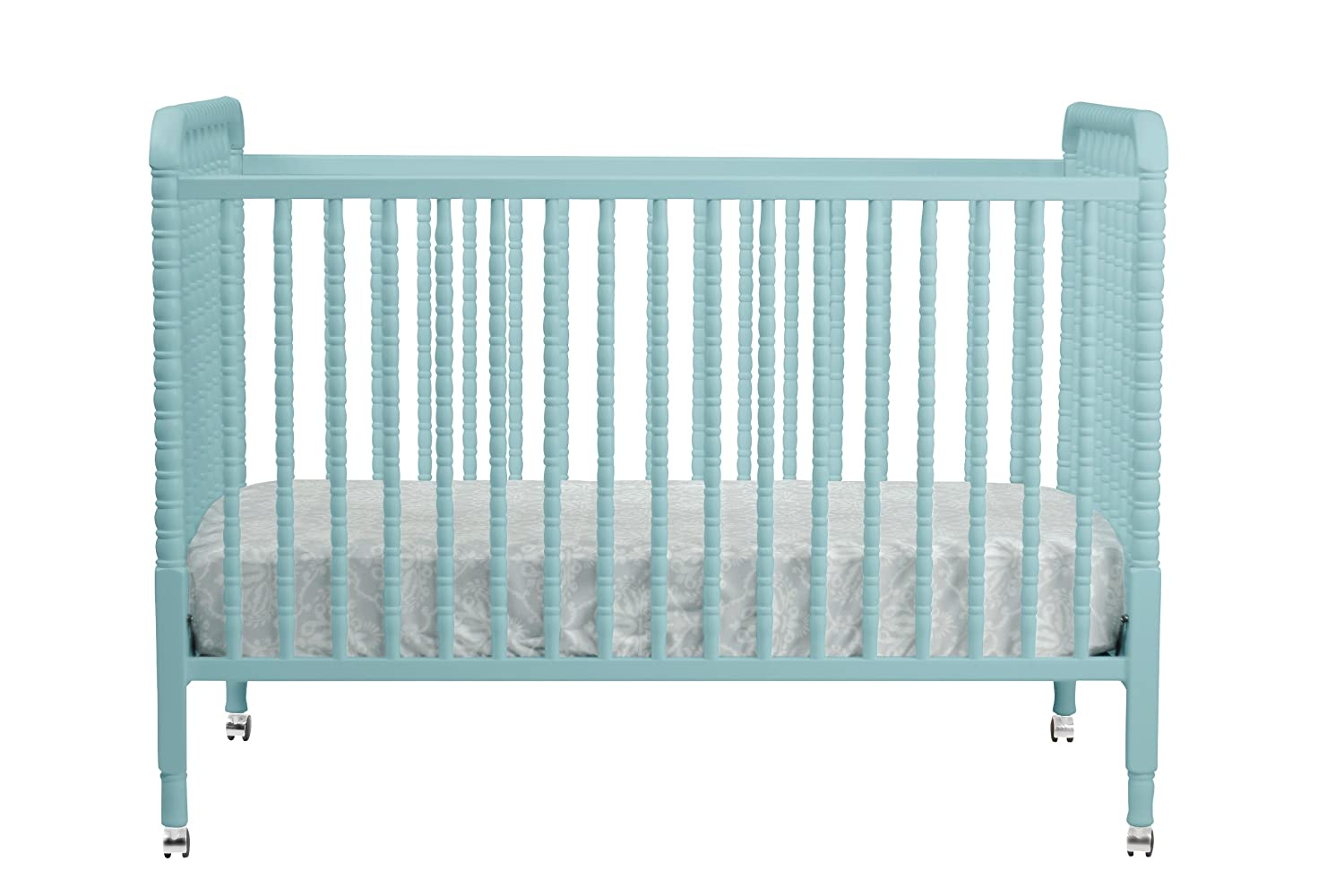 Amazon : Davinci Jenny Lind Stationary Crib With Toddler Bed Conversion  Kit, Lagoon : Jenny Lind Crib Blue : Baby